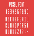 Pixel font pixeled alphabet letters and numbers