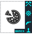 pizza icon icon flat vector image vector image