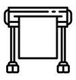 plotter icon outline style vector image vector image