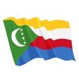 Political waving flag of comoros