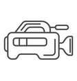 professional tv camera linear icon vector image vector image