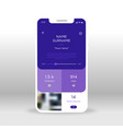 purple music player application design mobile app vector image vector image