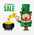 saint patricks sale design vector image vector image