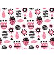 scandinavian ladybug vector image vector image