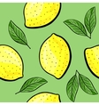 Seamless hand drawn lemon pattern vector image vector image