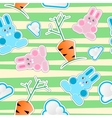 Seamless kid pattern vector image vector image