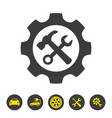 service tool icon on white background vector image vector image