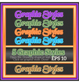 Set Of Glossy Graphic Styles for Design vector image
