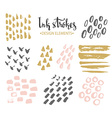 Set of hand-drawnstylish hipster strokes vector image