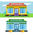 Shop buildings isolated vector image vector image