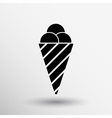 Sign abstract ice cream logo stylized vector image