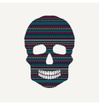 skull with pattern vector image vector image