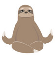 sloth doing yoga vector image vector image