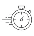 stopwatch thin line icon watch and countdown vector image vector image
