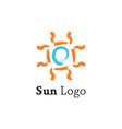sun logo template vector image vector image