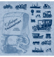 transportation antique set vector image vector image