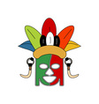 tribe-ceremonial-mask vector image vector image