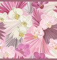tropical orchid seamless background jungle vector image vector image