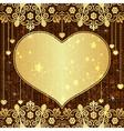 Vintage valentine frame vector image vector image