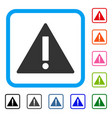 warning framed icon vector image