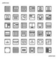 website user interface outline icons perfect pixel vector image vector image