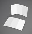 white mockup brochure 3d with shadow