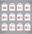 white sale shopping bags vector image vector image