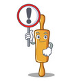 with sign rolling pin character cartoon vector image