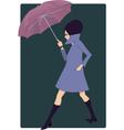 Woman with an umbrella vector image vector image
