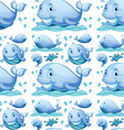 Seamless whale vector image