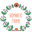 romantic floral frame vector image