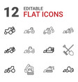 12 digger icons vector image vector image