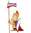 a cartoon knight vector image vector image
