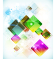 Abstract futuristic background vith falling vector image