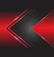abstract grey arrow direction on red design vector image vector image