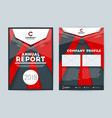 annual report cover design template flyer mockup vector image