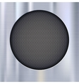 Background with speakers metal mesh vector image vector image