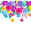 background with spring flowers beautiful vector image