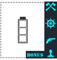 Battery empty icon flat