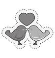 birds wedding card celebration vector image vector image