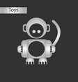black and white style toy monkey vector image vector image