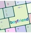 boyfriend word on keyboard key vector image vector image