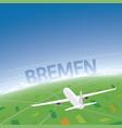 bremen flight destination vector image