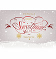 christmas calligraphic inscription with winter vector image vector image