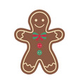 christmas ornament vintage felt ginger man vector image vector image