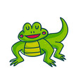 colorful green amphibian vector image vector image