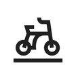 concept of bicycle icon black vector image