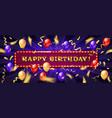 congratulatory banner happy birthday vector image vector image