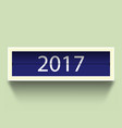 countdown timer 2017 year with shadow vector image