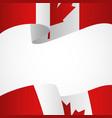 decoration canada insignia on white vector image